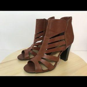A.N.A. Gladiator Sandal Heels Brown Leather 7.5
